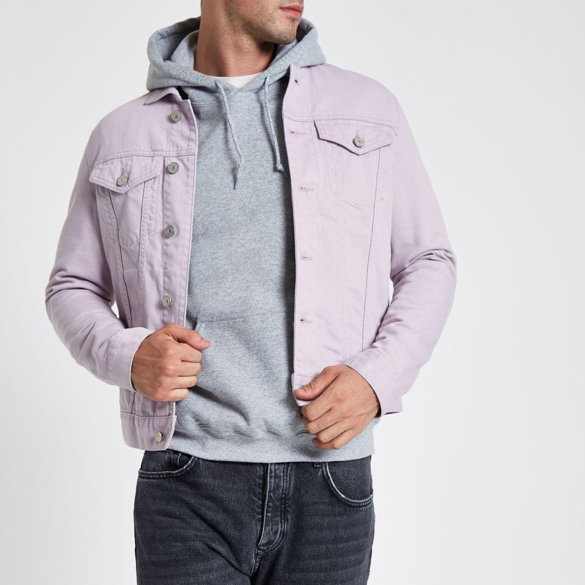 Light purple denim jacket