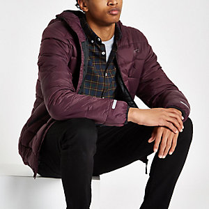 Bellfield burgundy puffer jacket