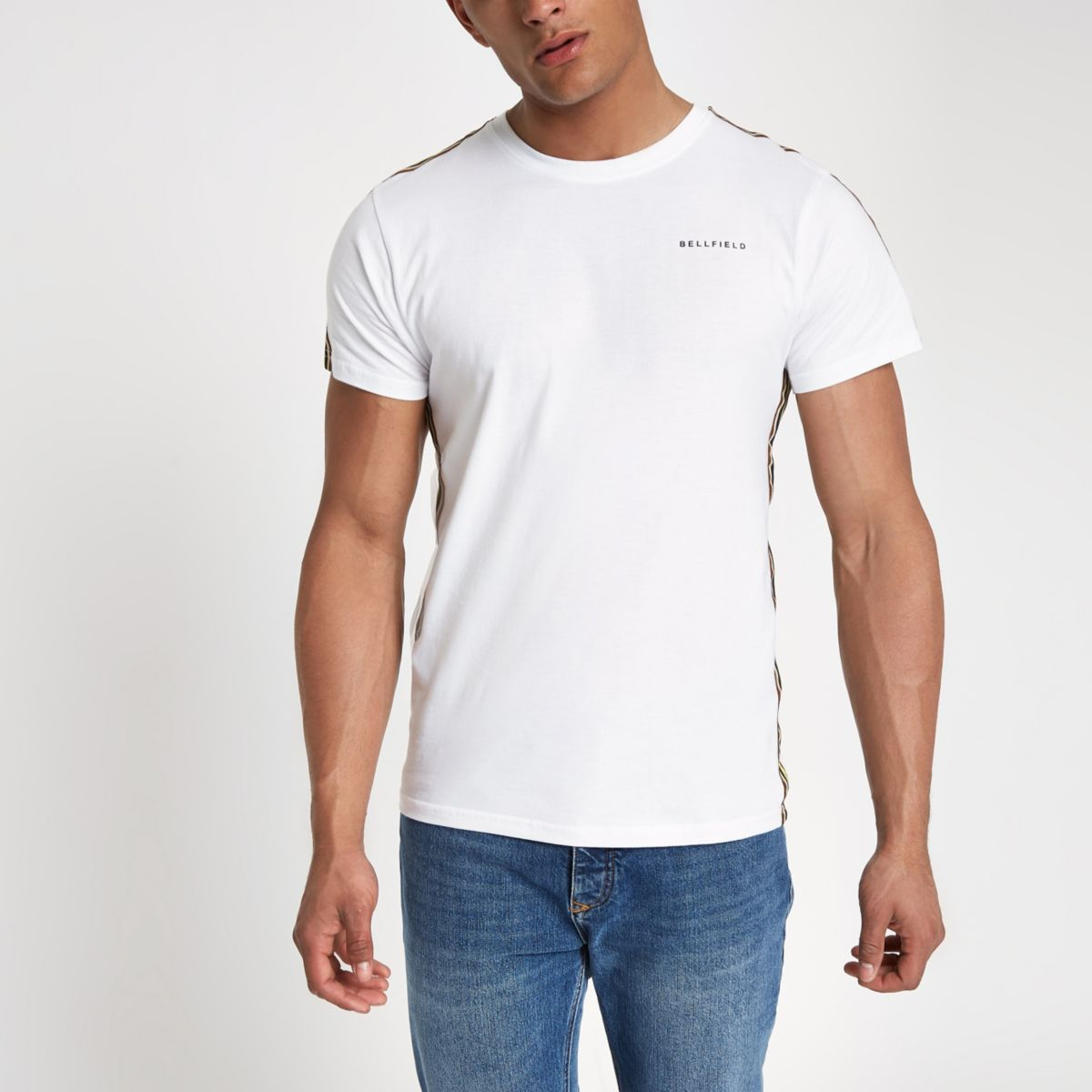 Bellfield white tape side T-shirt