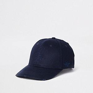 Casquette de baseball bleu marine motif « R95 »