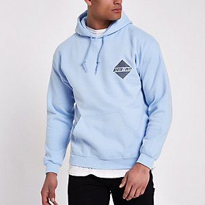 Light blue 'devoted' hoodie