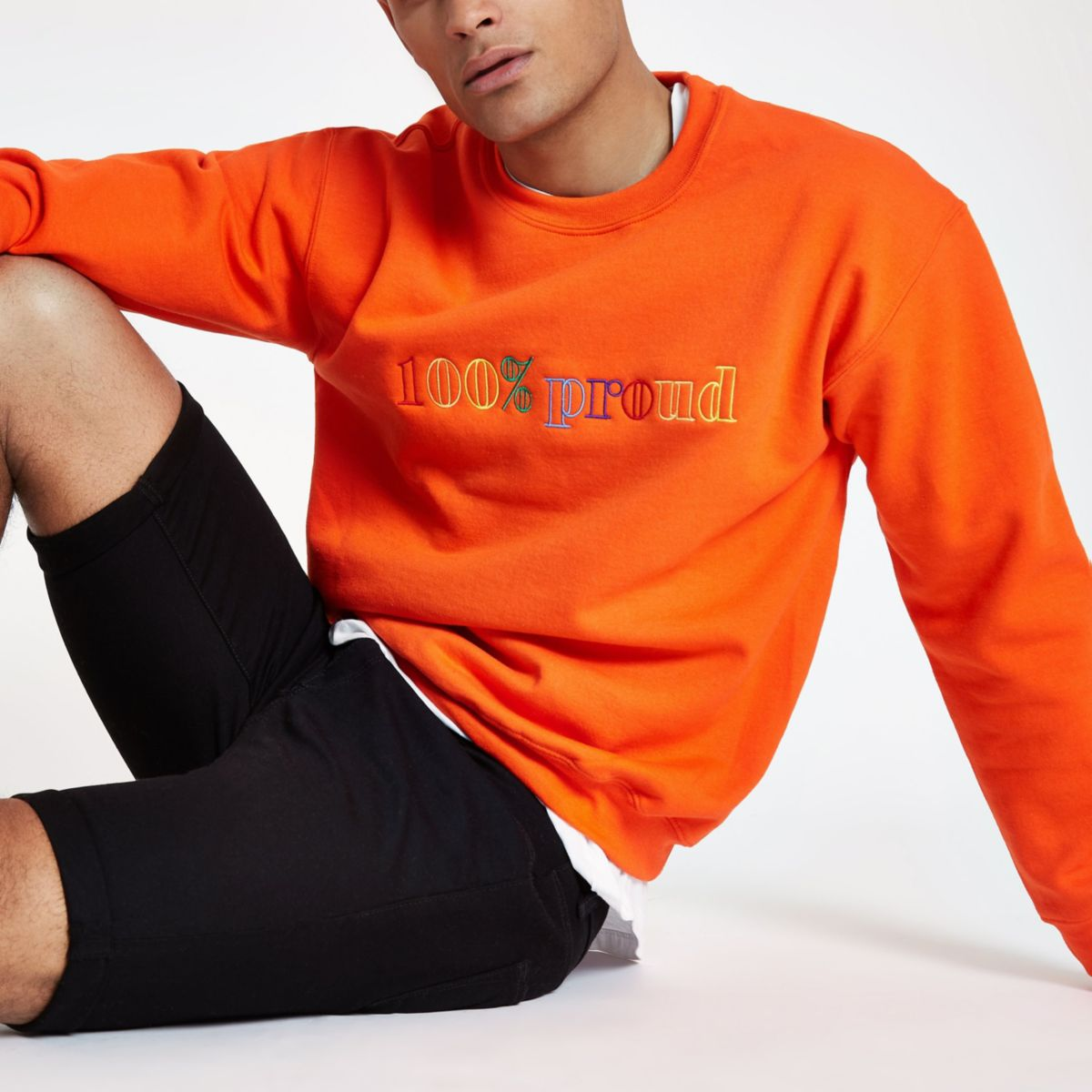 Orange Pride '100% proud' sweatshirt