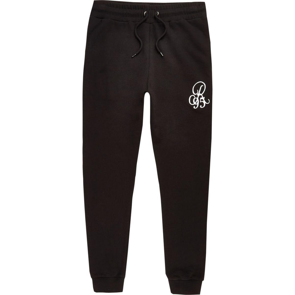 Big and Tall black jogging bottoms