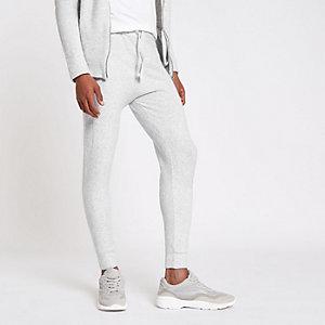 Pantalon de jogging slim en maille gris
