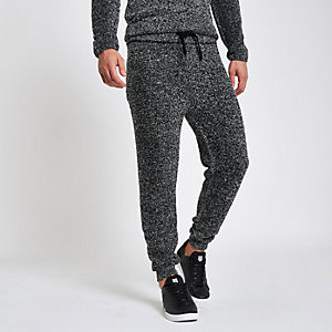 Pantalon de jogging slim en molleton gris