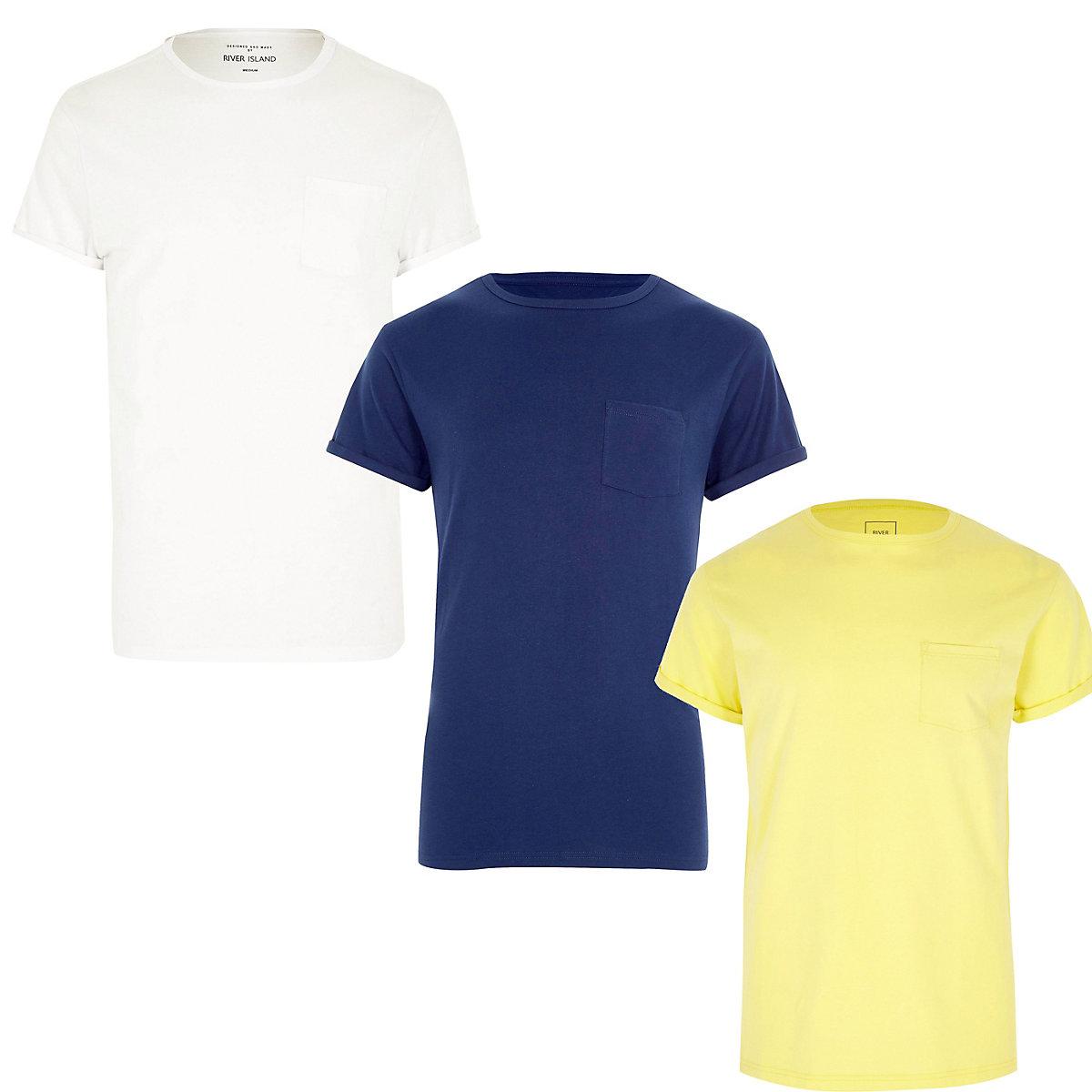 White pocket T-shirt 3 pack