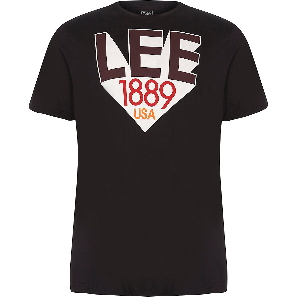 Lee Big and Tall black '1889' T-shirt