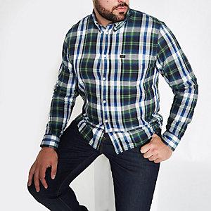 Big and Tall - Groen geruit overhemd met lange mouwen