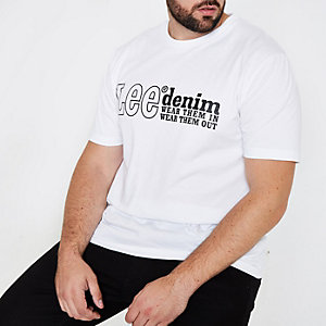Big and Tall white Lee T-shirt