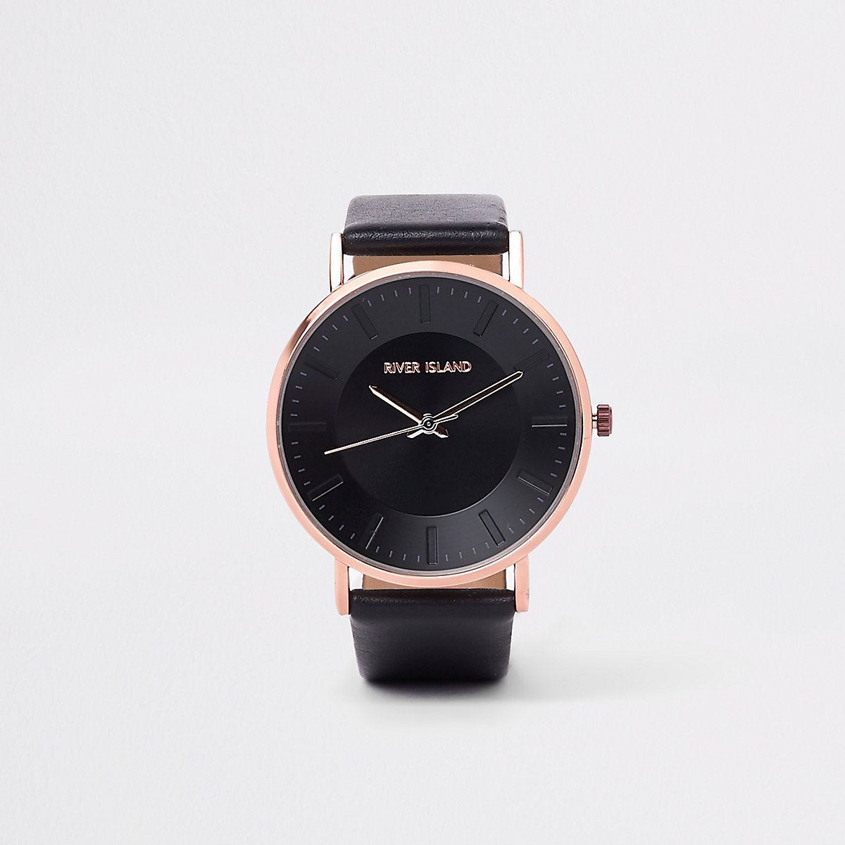 Black bronze tone minimal watch