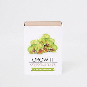 Kit de plantation Grow your own carnivorous plant blanc