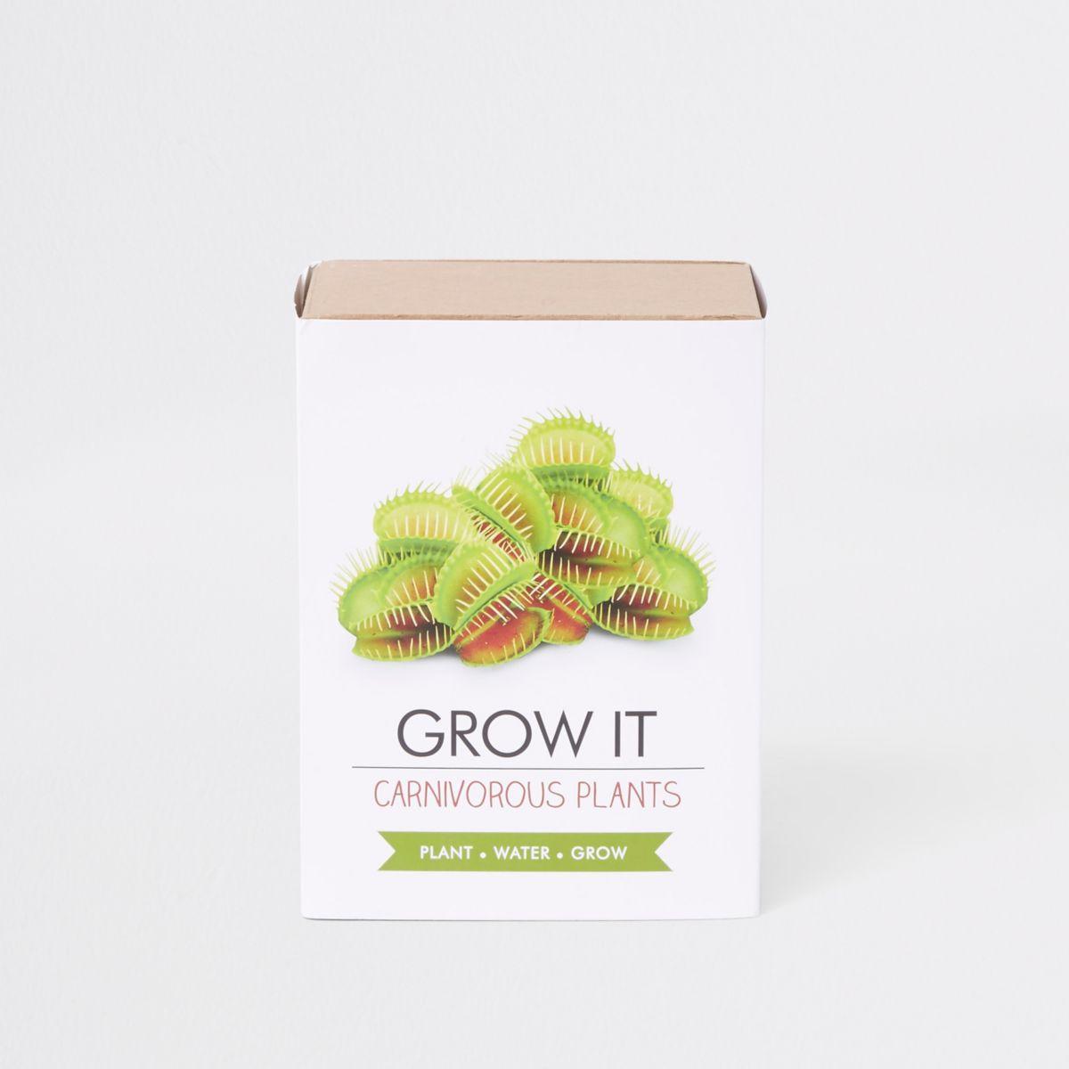 White grow your own carnivorous plant set