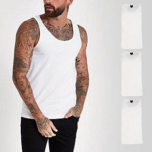 Set van 3 witte hemdjes