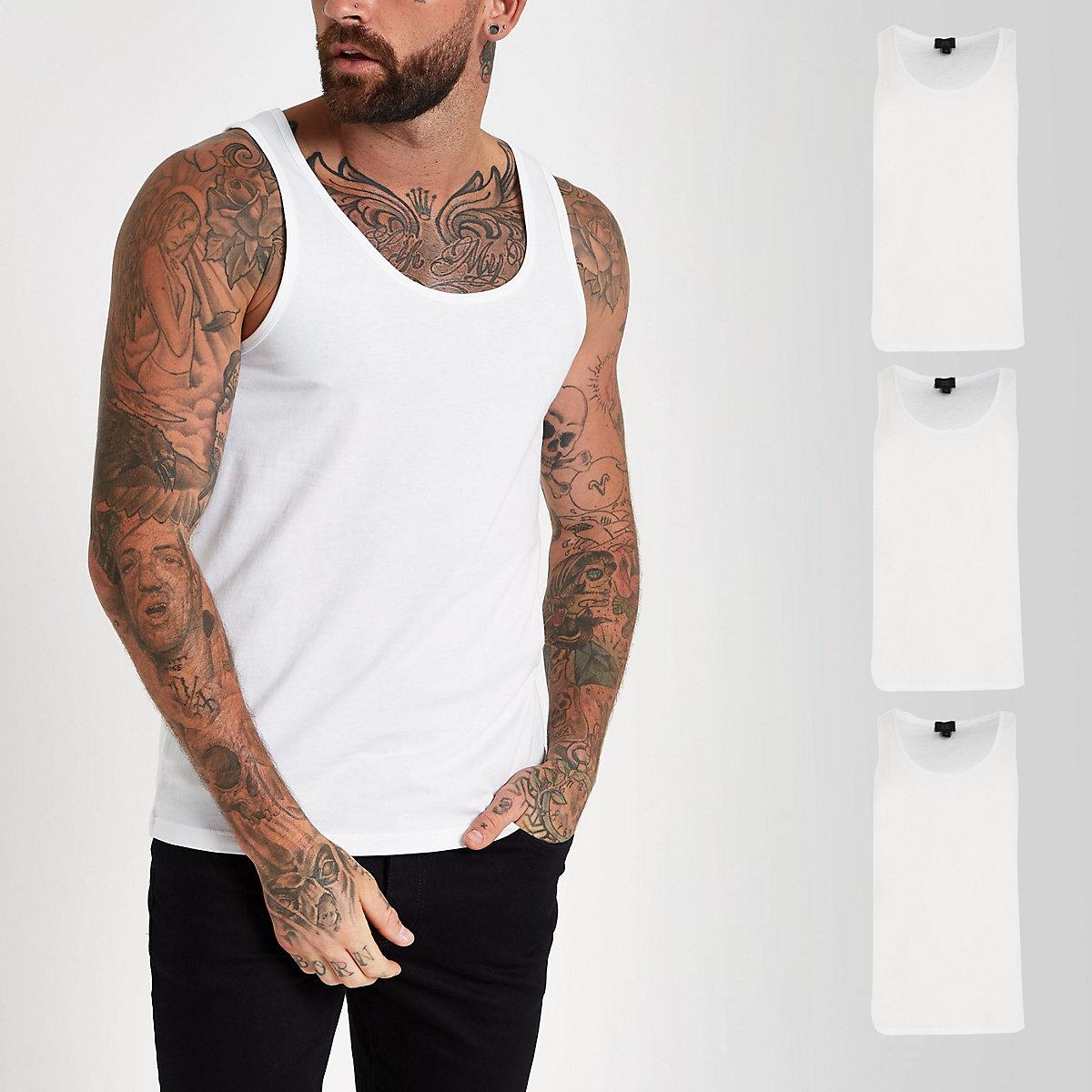 White vest 3 pack