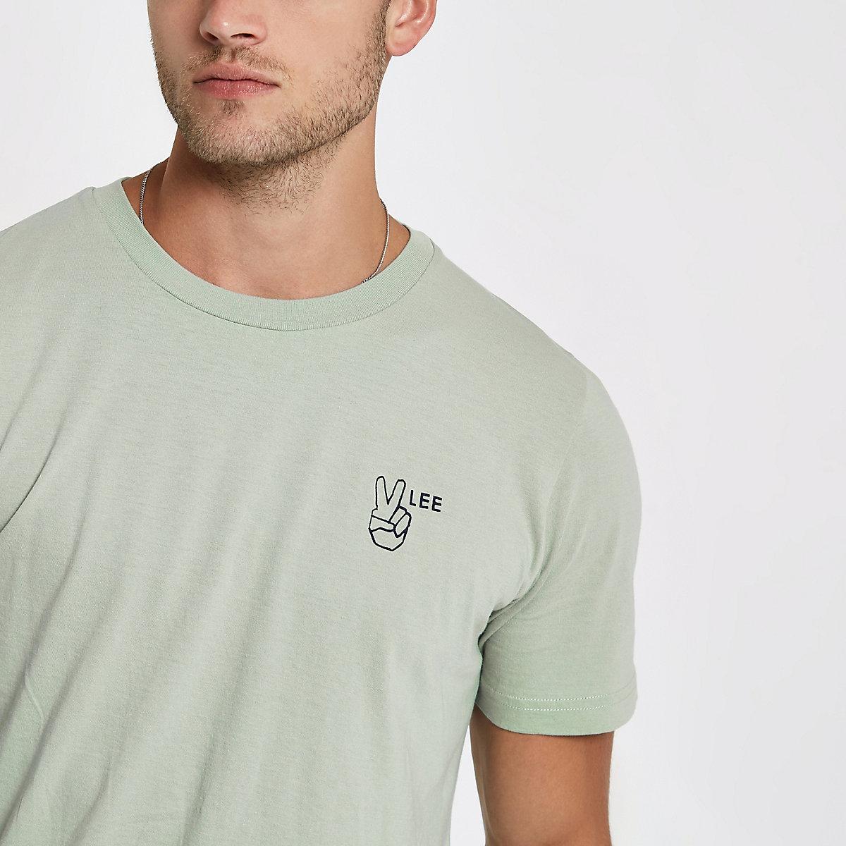 Lee green logo T-shirt