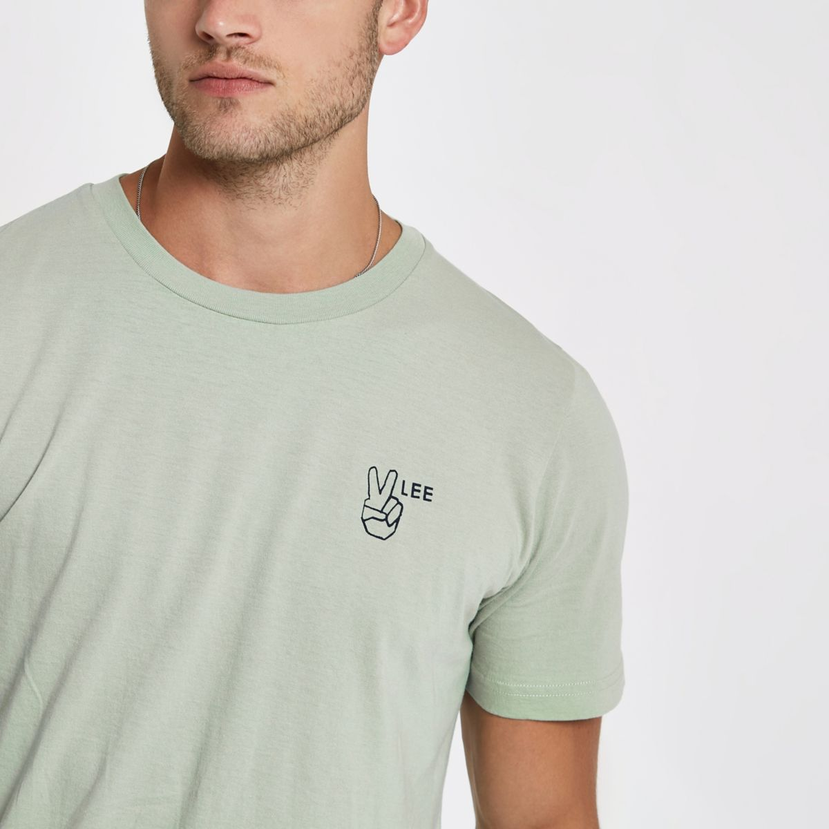 Lee green logo T-shirt