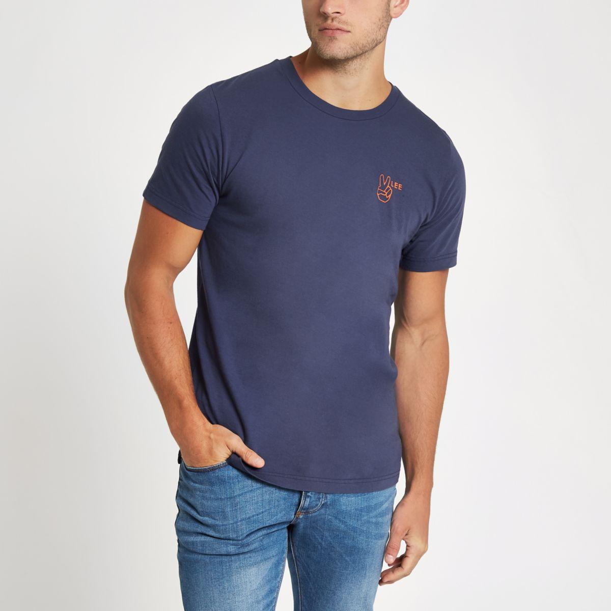 Lee blue logo T-shirt