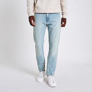 Lee light blue wash slim fit Rider jeans