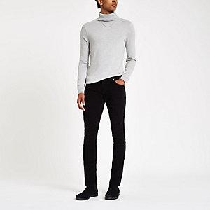 Sid – Pantalon skinny stretchen velours côtelénoir