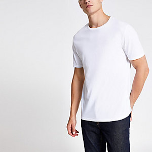 T-shirt slim blanc ras-du-cou
