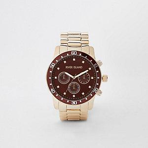 Goudkleurig horloge met schakelbandje