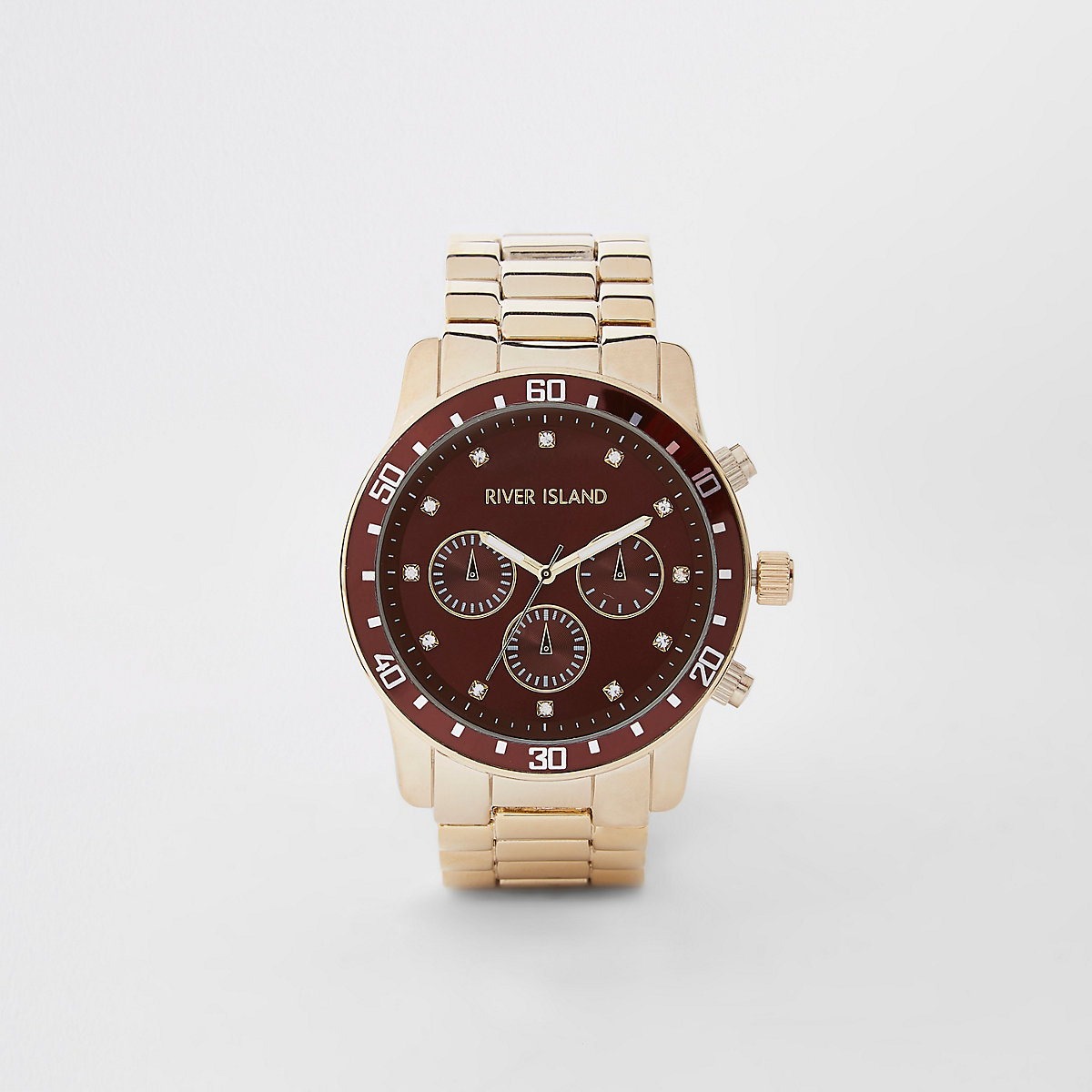Gold tone chain link watch
