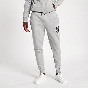 Pantalon de jogging ajusté «R96» gris chiné