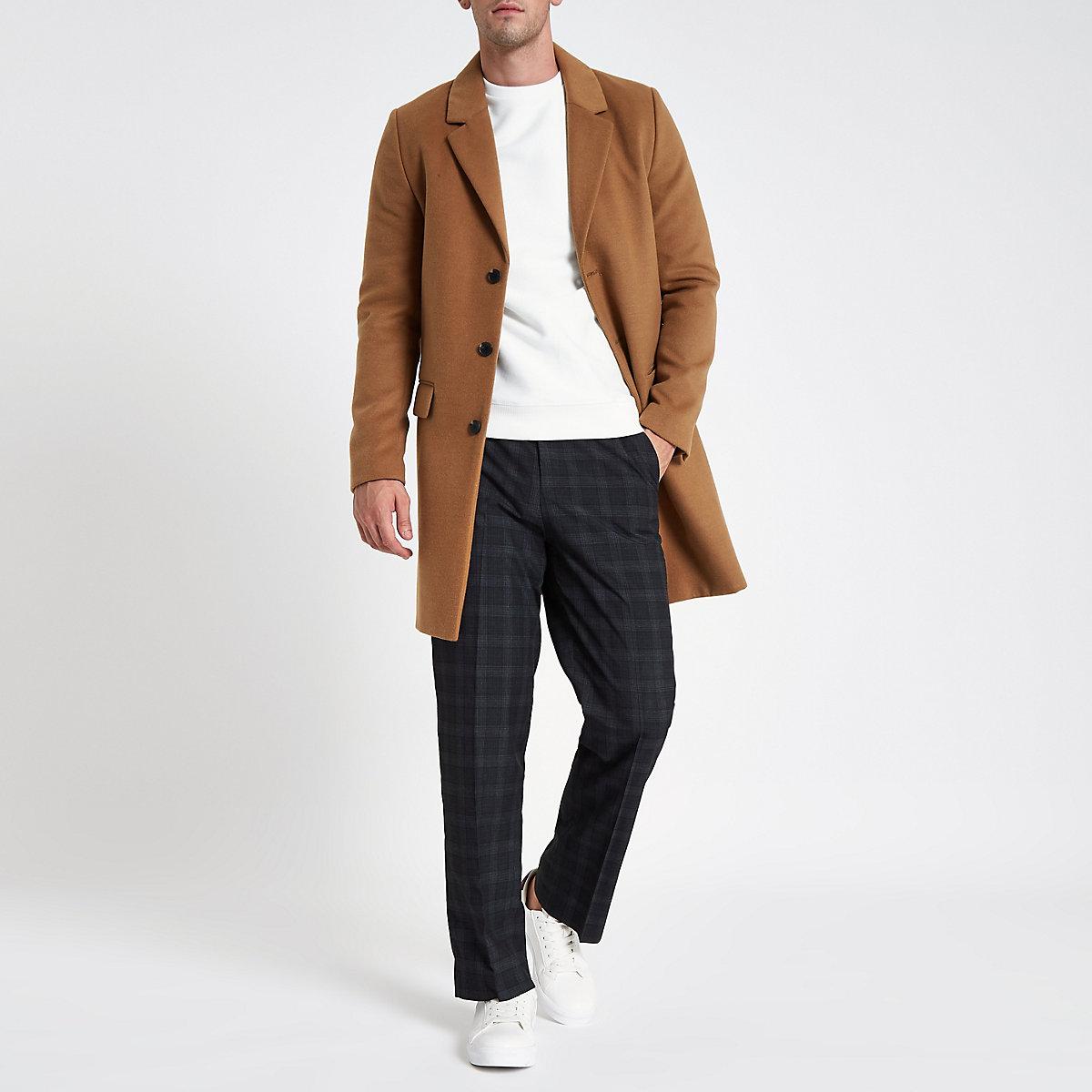 Grey check wide leg smart pants