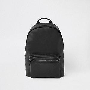 Schwarzer Rucksack aus Lederimitat