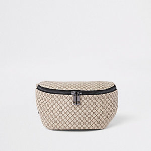 Ecru RI monogram cross body