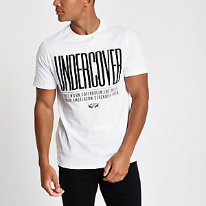 "Weißes Slim Fit T-Shirt ""undercover"""