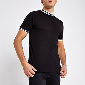 Only & Sons black tipped T-shirt