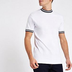 Only & Sons – T-shirt blanc à bordure
