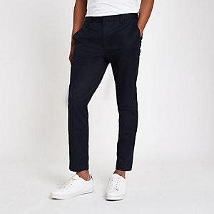 Pantalon court skinny bleu marine