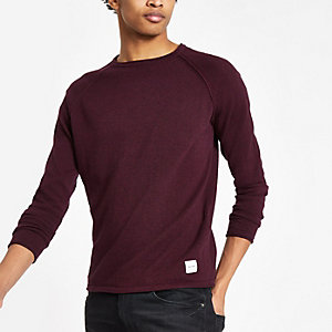 Only & Sons purple raglan knit jumper