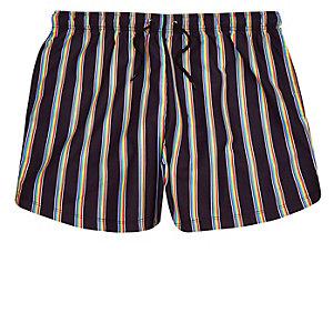 Black Pride rainbow print swim trunks