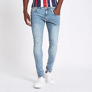 Lichtblauwe superskinny jeans