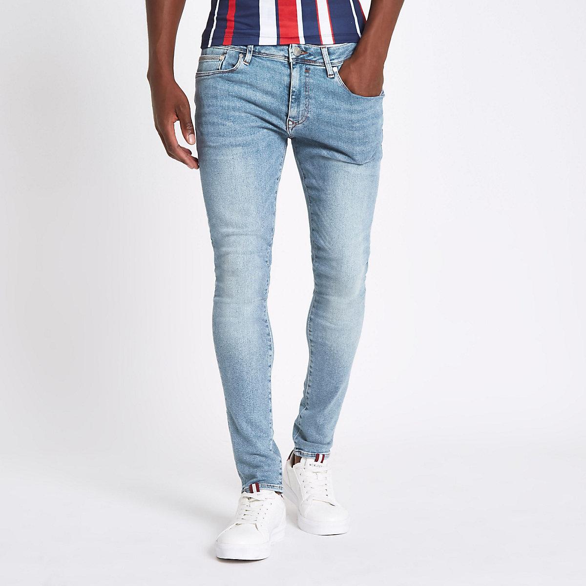 Light blue super skinny jeans
