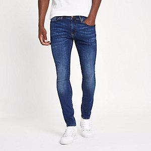 Middenblauwe effen superskinny jeans