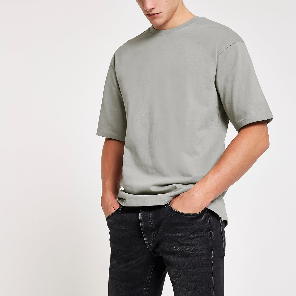Only & Sons grey short sleeve sweatshirt
