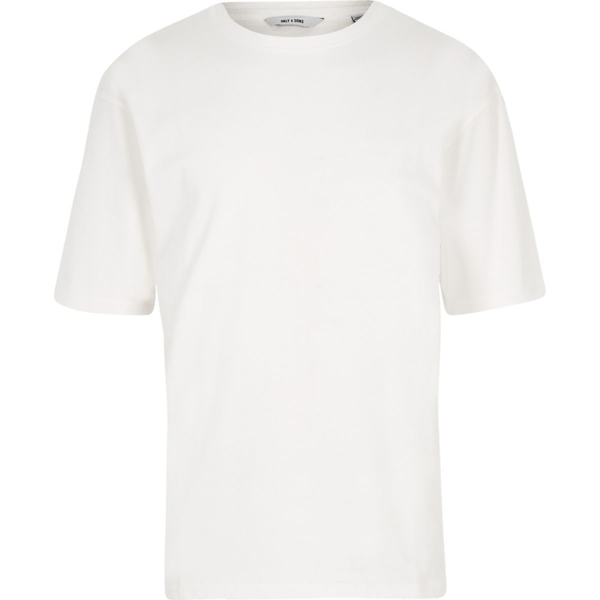 Only & Sons white short sleeve sweatshirt