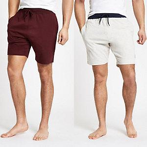 R96 - Set van 2 marineblauwe shorts