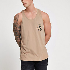 Stone slim fit racer back vest