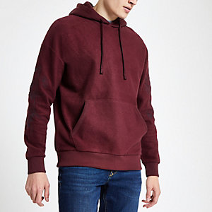 Jack & Jones red embroidered hoodie