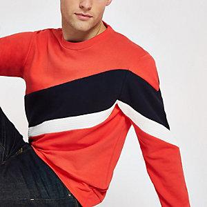 Jack & Jones - Rood sweatshirt jack met kleurvlakken