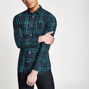 Jack & Jones – Originals – Blaues, kariertes Hemd