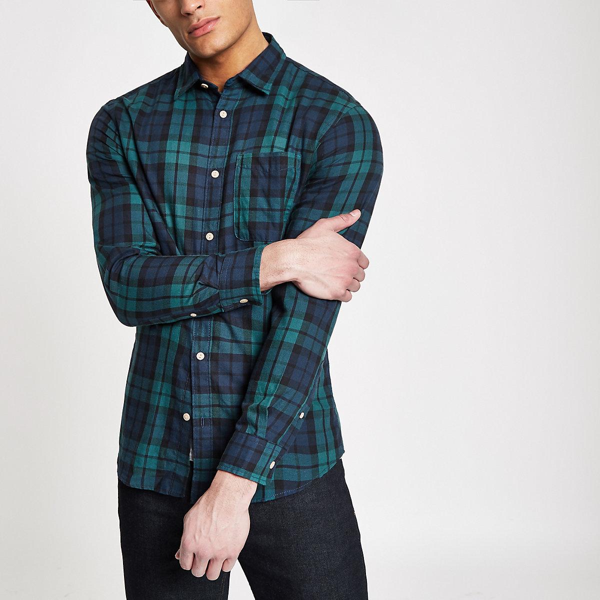 Jack & Jones Originals blue check shirt