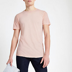 Jack & Jones - Premium roze T-shirt