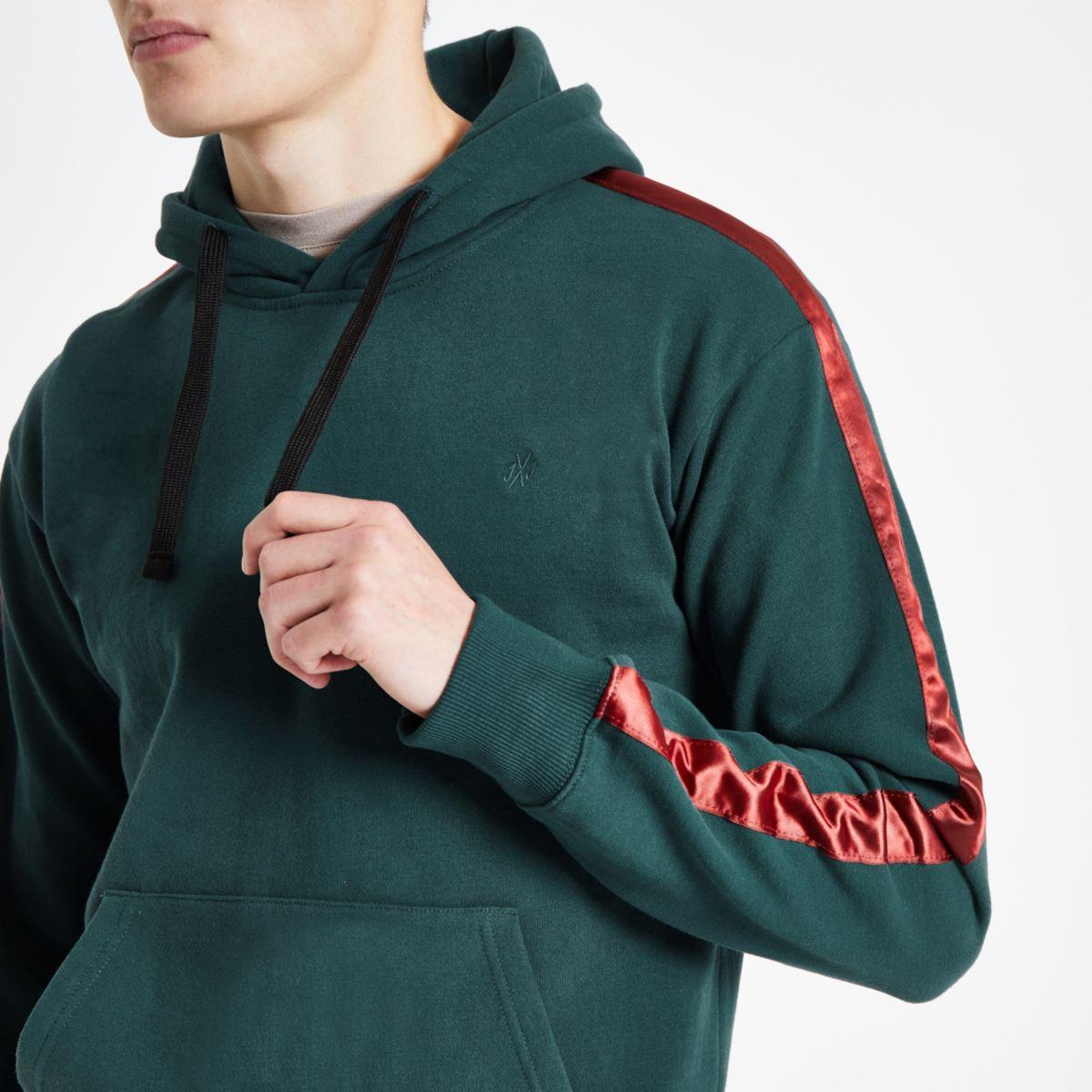 Jack & Jones green tape hoodie