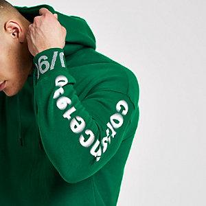 Jack & Jones Core - Groene hoodie met print op de mouwen